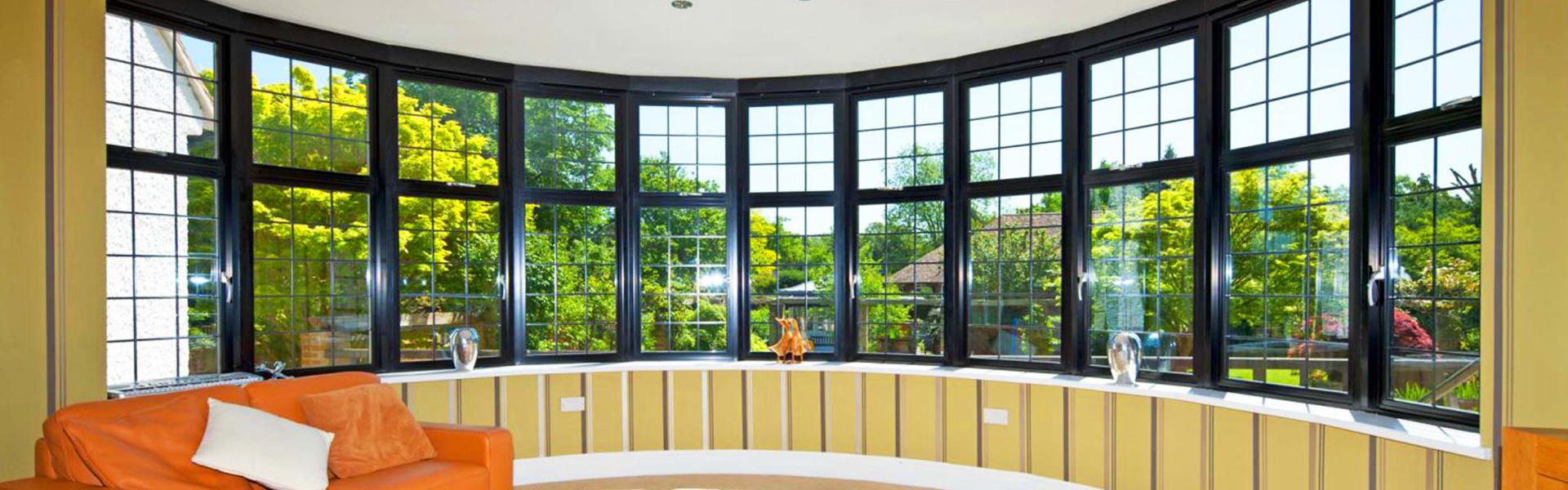 Алюминиевые окна фон записи