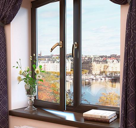 Окно стандартное с двумя створками фото